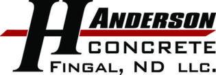 H Anderson Concrete Fingal, ND. llc